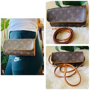 LOUIS VUITTON twin Pochette shoulder pouch bag